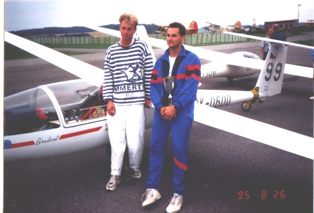 Martin Kočí a Jiří Trnka po juniorkách 1995. Trnka obsadil 2. místo